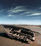 stara łódź zepsuty Fotografia Royalty Free