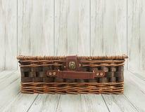 Stara łozinowa torba Obraz Royalty Free