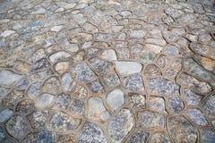 Stara ściana brown granit dryluje teksturę dla projekta Zdjęcie Royalty Free