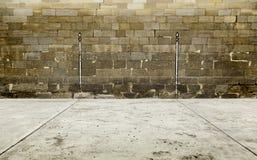 Stara ściana fronton w Spain obrazy stock