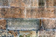 Stara ściana kamienne cegiełki - piaskowiec 7 Zdjęcia Royalty Free