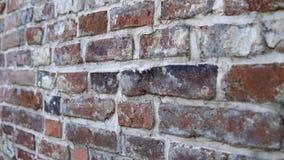Stara ściana z antycznym brickwork, ceglany tło zbiory wideo