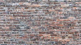 Stara ściana z cegieł będąca ubranym czasem royalty ilustracja