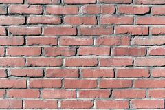 Stara ściana z cegieł tła światła winieta Obraz Royalty Free