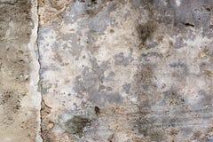 Stara ściana z uszkadzającym popielatym tynkiem - tło 2 Obraz Stock