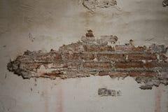 Stara ściany z cegieł tekstura, Malujący Zakłopotany ściany powierzchni tło obraz stock