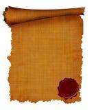 Stara ślimacznica z wosk foką ilustracja wektor