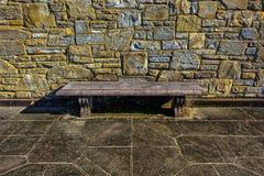 Stara Średniowieczna ławka obrazy stock