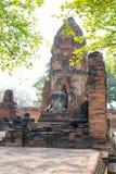 Stara świątynia antyczny w Ayutthaya zdjęcie stock