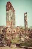 Stara świątynia Ayuthaya, Tajlandia Fotografia Royalty Free