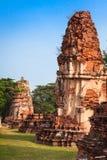 Stara świątynia Ayuthaya, Tajlandia Zdjęcie Royalty Free