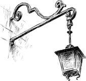 stara światła street ilustracja wektor