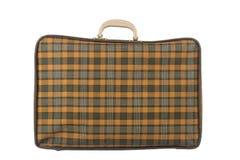 Stara żółta walizka Zdjęcie Royalty Free
