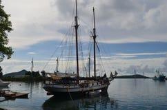 Stara żagiel łódź obraz royalty free