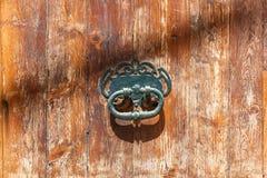 Stara żelazna drzwiowa rękojeść Fotografia Royalty Free