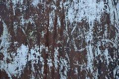 Stara żelazo powierzchnia, struga daleko farbę, narysy Fotografia Stock