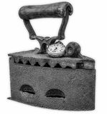 Stara żelazo rdza zakrywająca z antykiem gnił kieszeniowego zegarek Zdjęcia Royalty Free