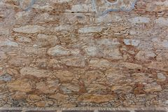 Stara adobe skały ściany tekstura Obrazy Royalty Free
