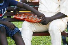 Stara afrykańska gra Zdjęcia Royalty Free