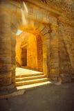 Stara Agios Nikolaos brama w fortecznym Spinalonga Obraz Royalty Free
