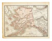 stara Alaska mapa zdjęcia stock