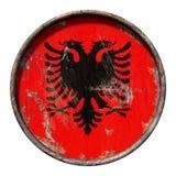 Stara Albania flaga Obrazy Royalty Free