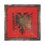 Stara Albania flaga Zdjęcie Royalty Free