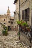 Stara aleja Sant'Agata Feltria Obrazy Stock