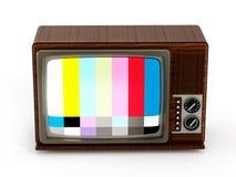 Stara analog telewizja z testa ekranem ilustracja 3 d Obrazy Royalty Free