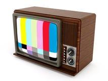 Stara analog telewizja z testa ekranem ilustracja 3 d Fotografia Royalty Free