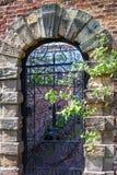 Stara angielska ogrodowa brama Obrazy Royalty Free