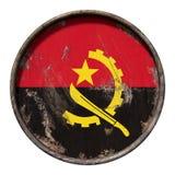 Stara Angola flaga Zdjęcie Stock