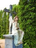 Stara anioł rzeźba, Lithuania obraz royalty free