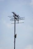 Stara antena z niebieskim niebem Fotografia Royalty Free
