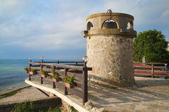 Stara antyczna latarnia morska Fotografia Stock