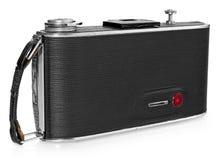 Stara, antykwarska czarna kieszeniowa kamera, widok z powrotem Fotografia Stock