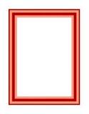 Stara antykwarska czerwieni rama Zdjęcia Stock