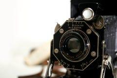 Stara Antykwarska falcowanie kamera Zdjęcie Stock