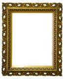 Stara antykwarska klasyczna złoto rama nad białym tłem Zdjęcia Royalty Free