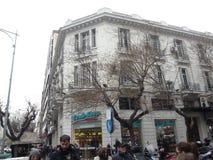 Stara architektura budująca Saloniki Fotografia Stock