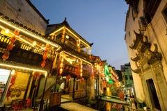 Stara architektura i najwięcej pięknej wioski porcelana dzwonimy ` Likeng wioskę z prowincji Chiny w Wuyuan ` obrazy stock