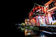 Stara architektura i najwięcej pięknej wioski porcelana dzwonimy ` Likeng wioskę z prowincji Chiny w Wuyuan ` fotografia stock