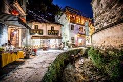 Stara architektura i najwięcej pięknej wioski porcelana dzwonimy ` Likeng wioskę z prowincji Chiny w Wuyuan ` fotografia royalty free