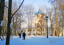 Stara architektura Kolomenskoye park Obraz Stock