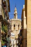 Stara architektura W śródmieściu Walencja miasto W Hiszpania Zdjęcie Royalty Free