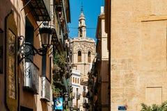 Stara architektura W śródmieściu Walencja miasto W Hiszpania Zdjęcie Stock