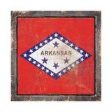 Stara Arkansas flaga ilustracja wektor
