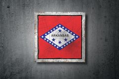 Stara Arkansas stanu flaga royalty ilustracja