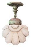 Stara art deco lampa odizolowywająca na bielu Zdjęcie Royalty Free