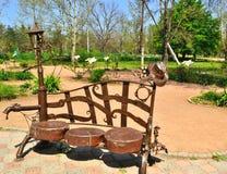 Stara ławka w parku Zdjęcia Royalty Free